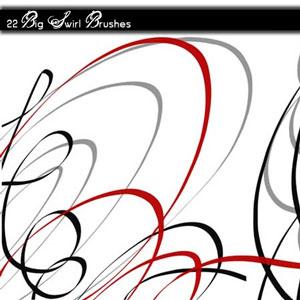 big swirl brushes photoshop brushes