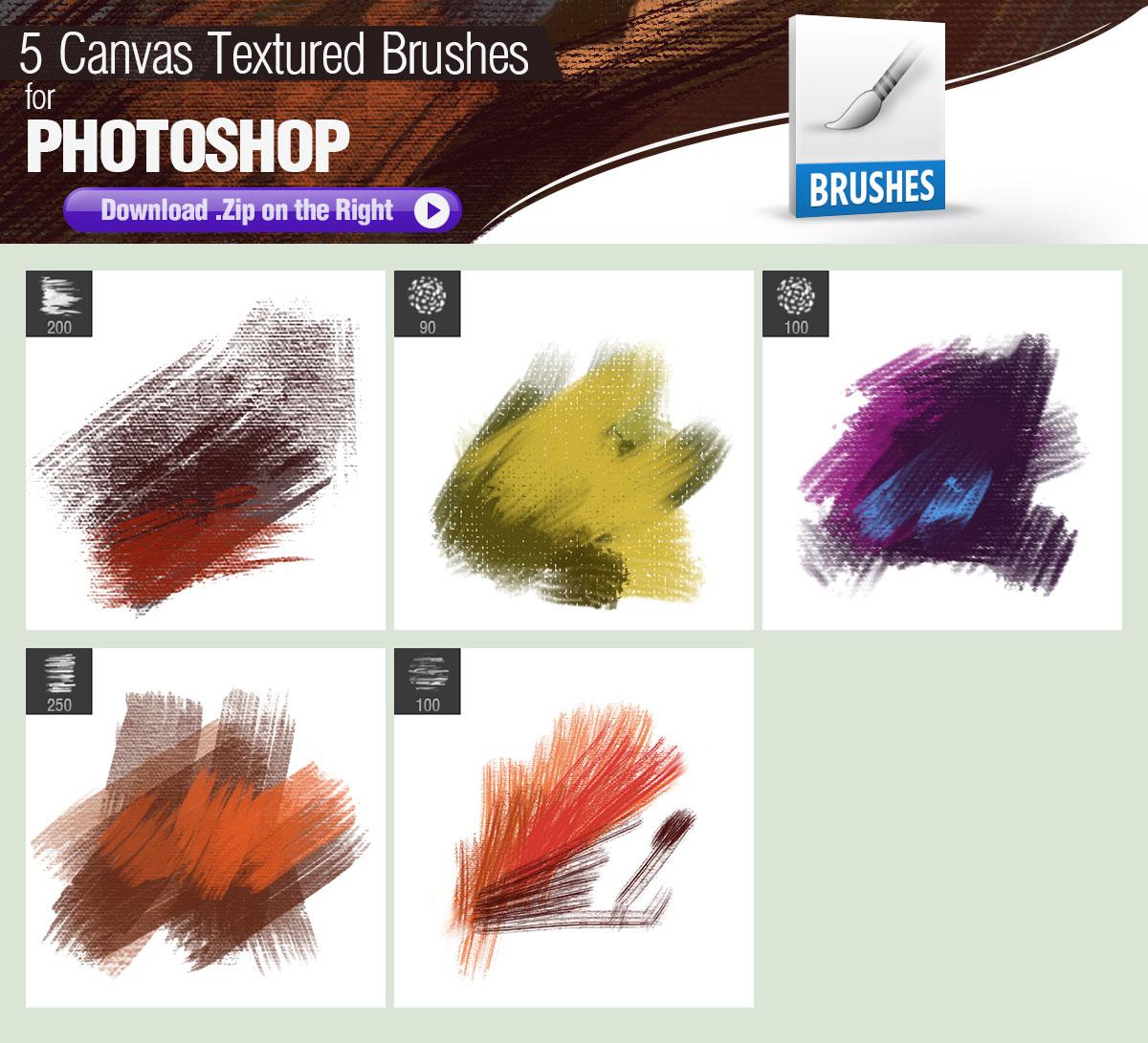Canvas Textured PS Brushes - Photoshop brushes