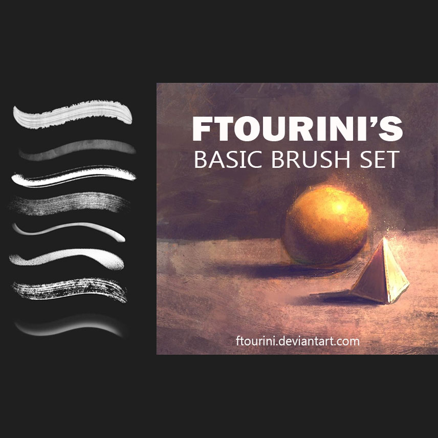 basic painting brushes
