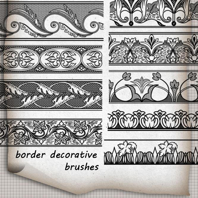 photoshop border brushes download