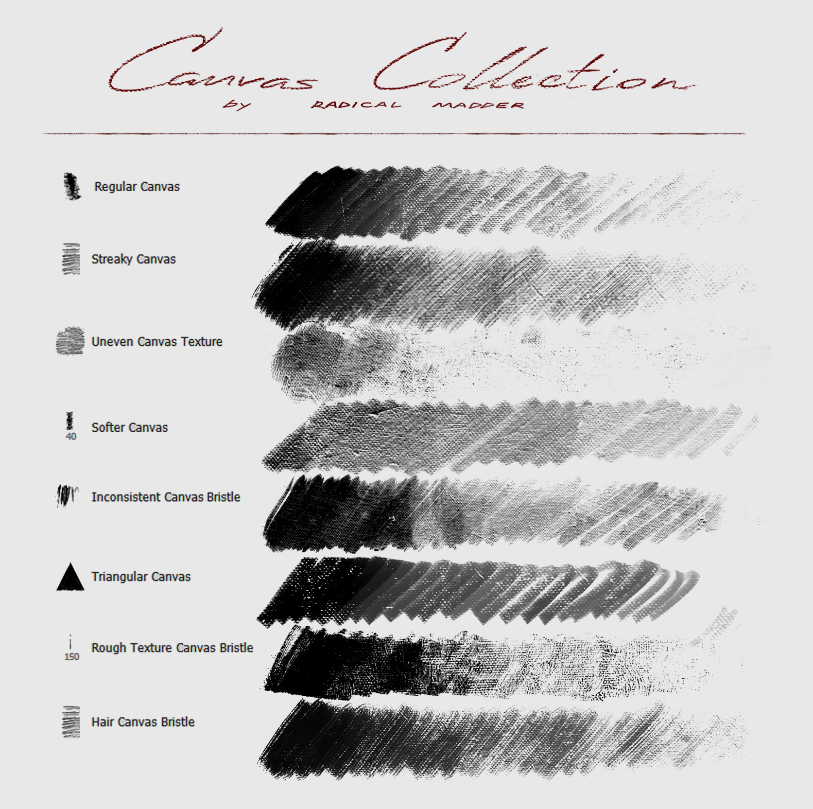 Canvas Brushes Collection Photoshop Brushes