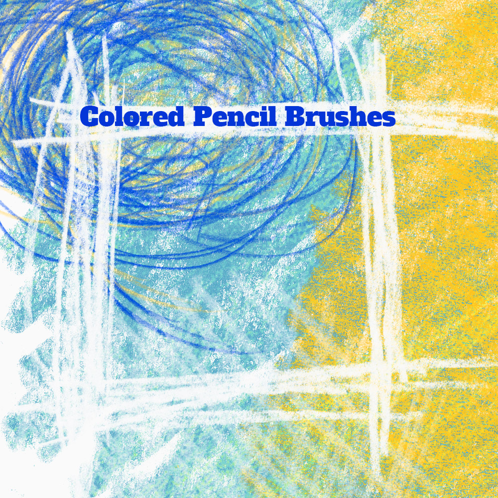 15 Colored Pencil PS Brushes - Photoshop brushes