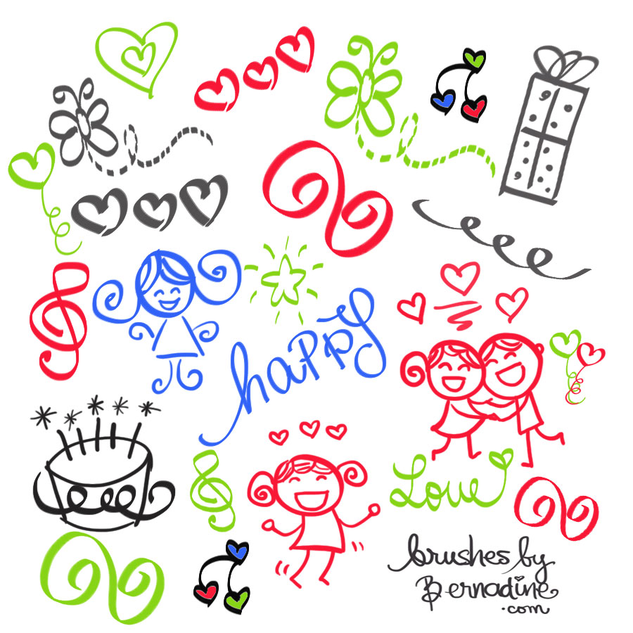cute_girly_doodles_brush_set_3 download birthday cake for my love 9 on download birthday cake for my love