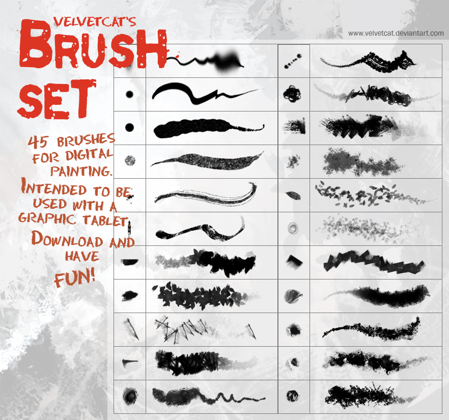 digital painting brushes
