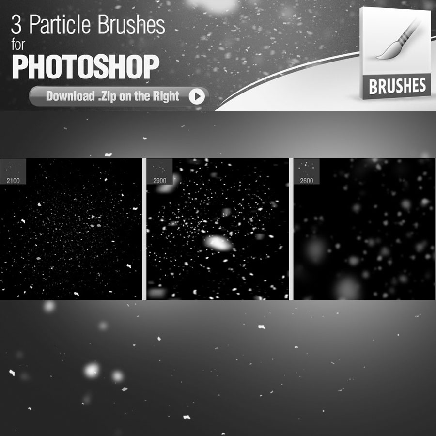 Dust Particles Free Brushes - Photoshop brushes