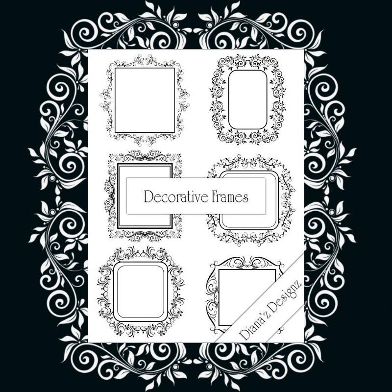 Decorative Frame Brushes - Photoshop brushes