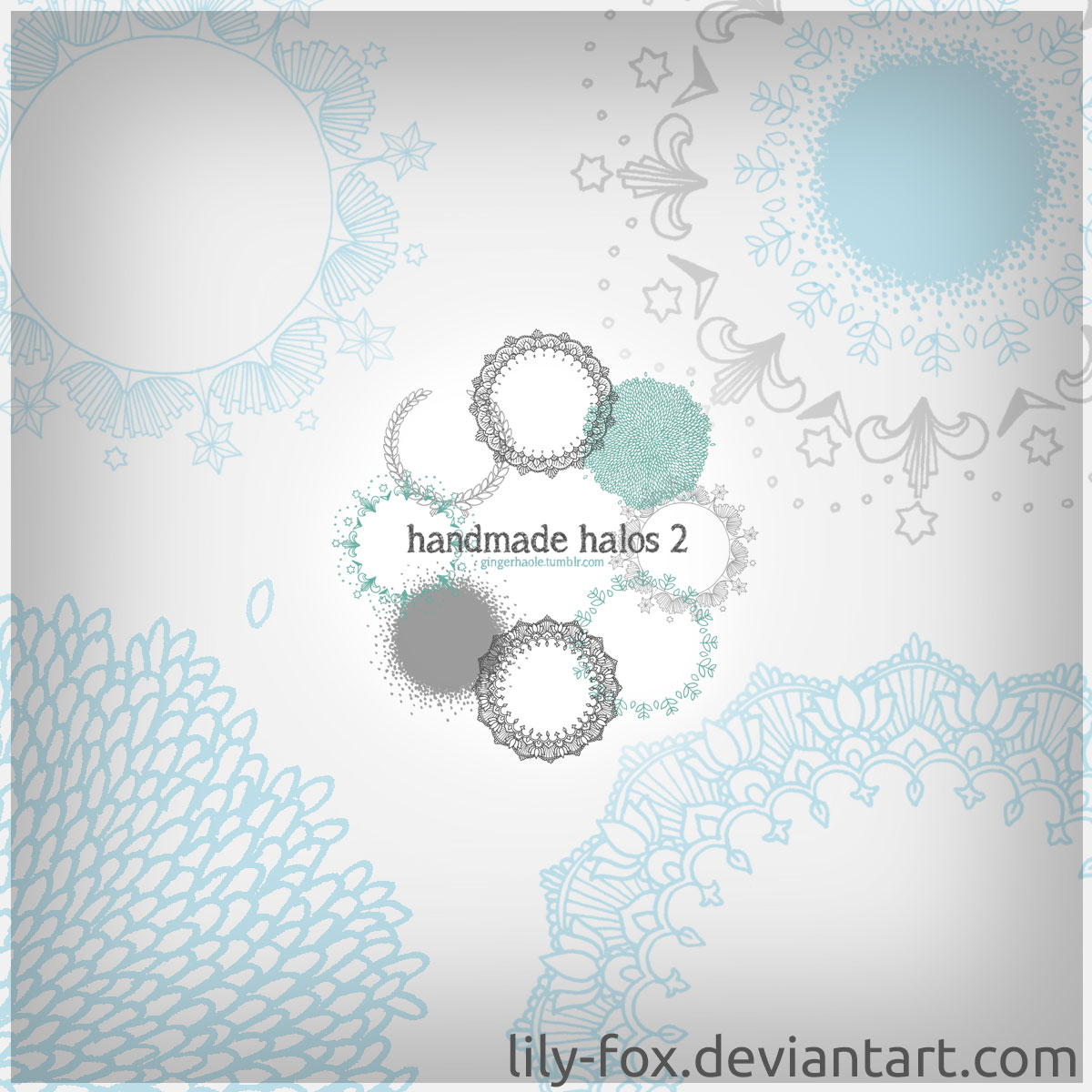 Handmade Halos 2 Brush Set - Photoshop brushes