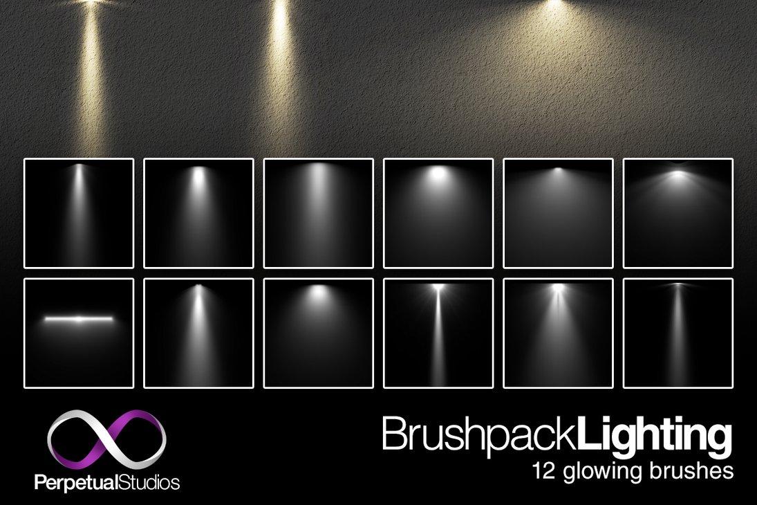 Lighting brushes photoshop brushes for Lamp light photoshop
