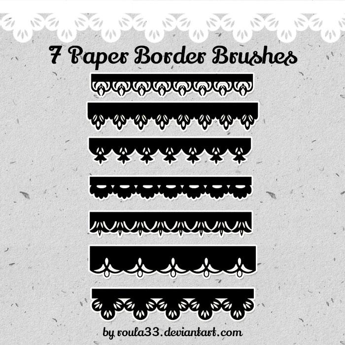 Paper Border Brushes - Photoshop brushes
