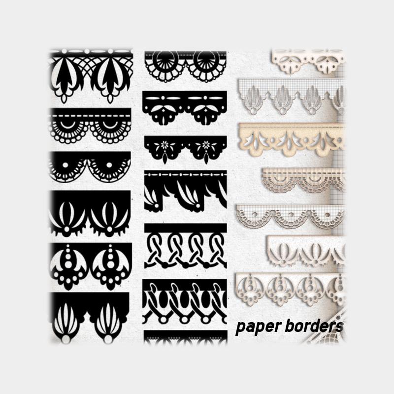 Free Paper Borders Brushes - Photoshop brushes