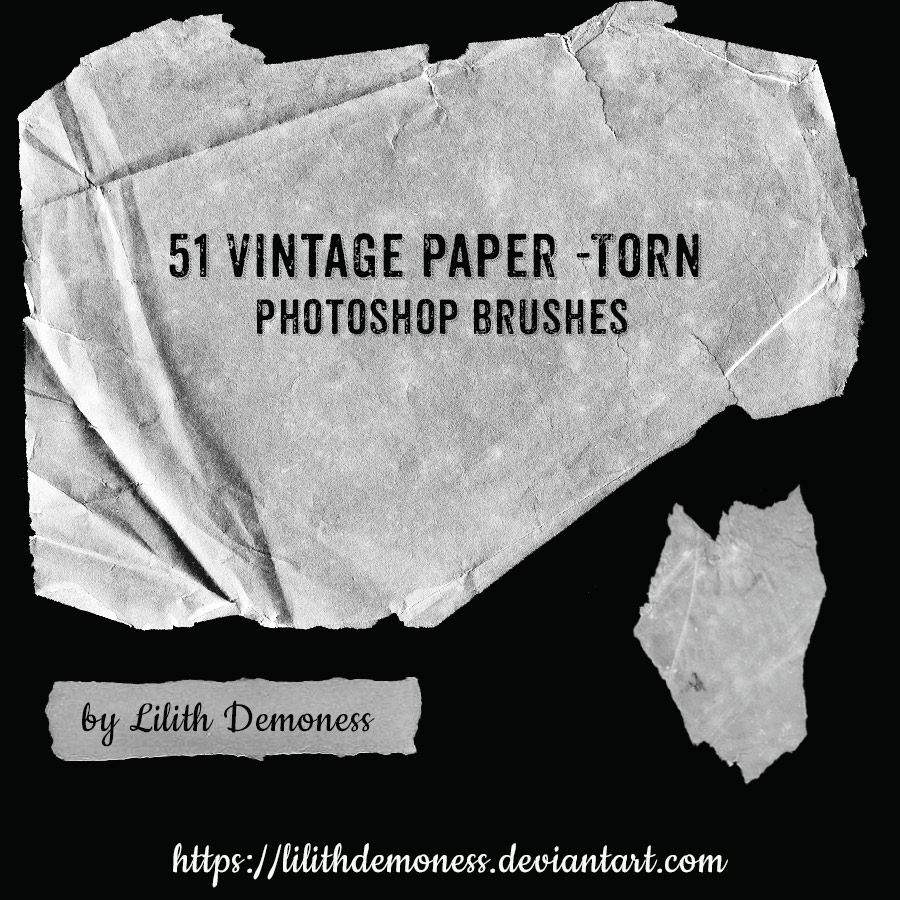 51 paper torn brushes - photoshop brushes