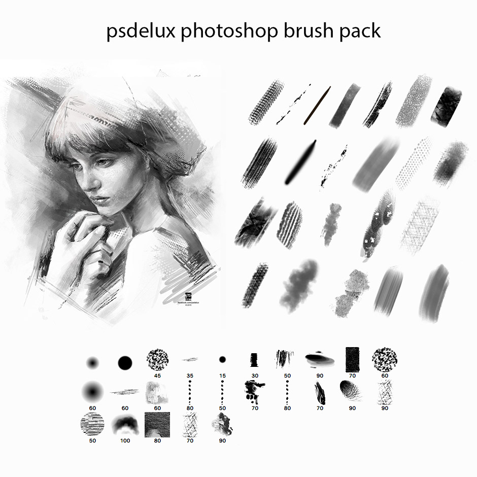 Watercolor paint brushes photoshop free download
