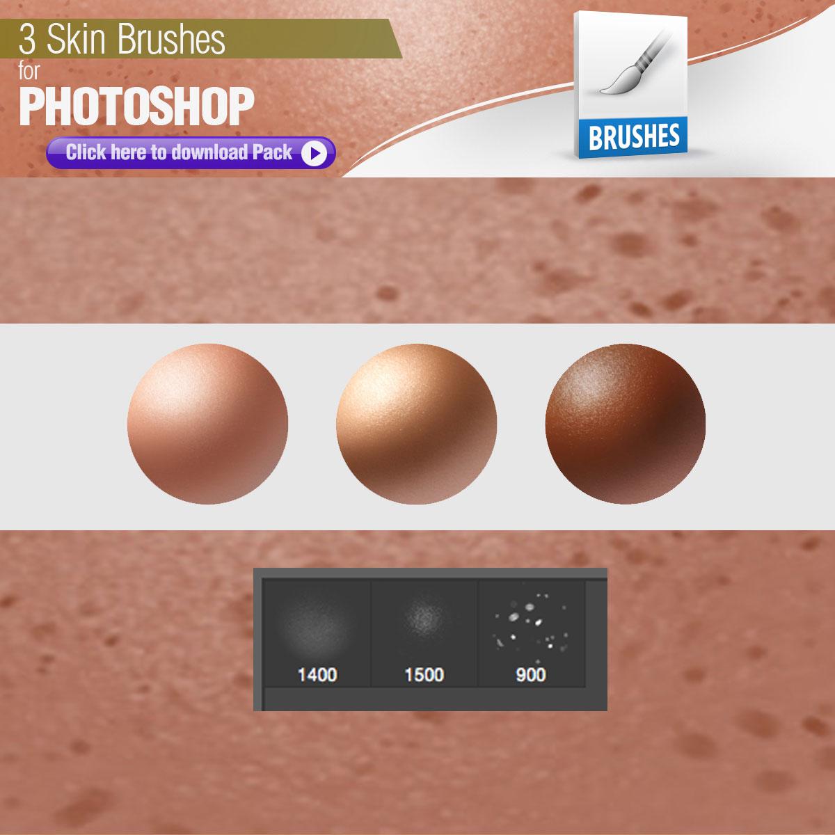 3 Skin Brushes - Photoshop brushes