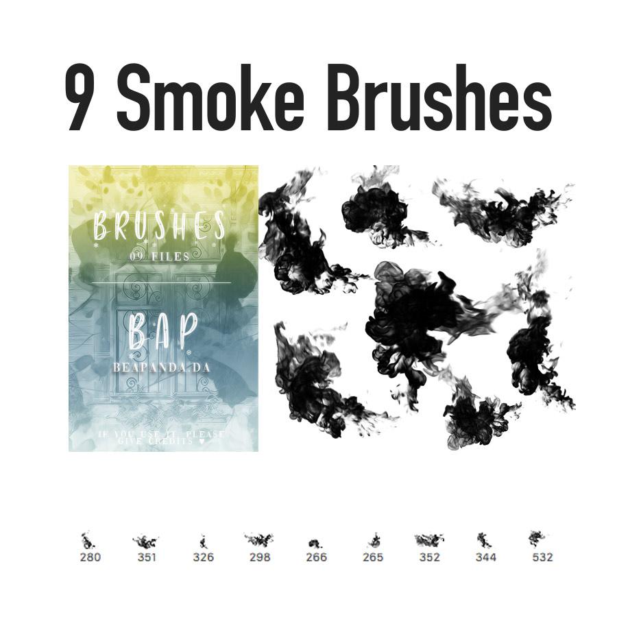 Free Smoke PS Brushes - Photoshop brushes