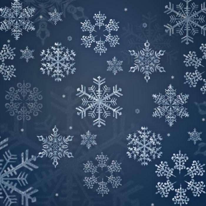 Snowflakes Photo Border With Photoshop
