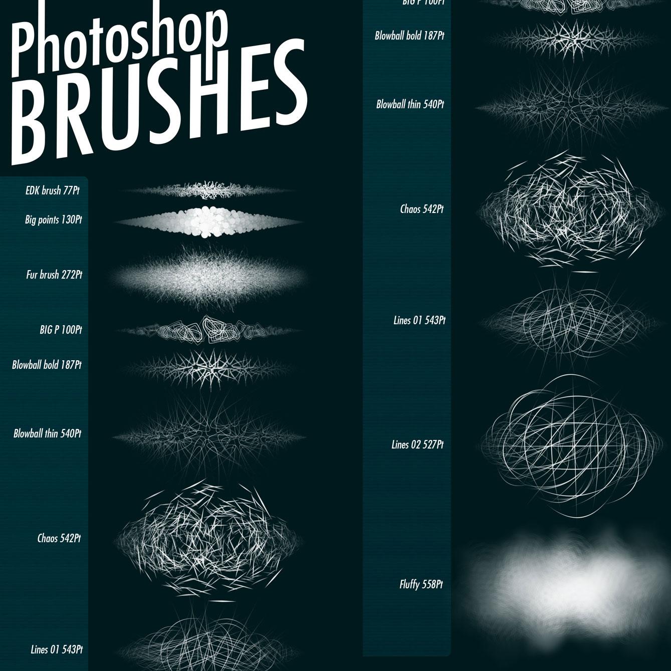 Texture Brushes - Photoshop brushes