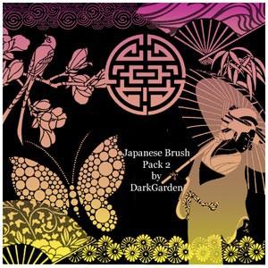 Photoshop brushes orient, japanese, decorative