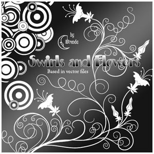 Photoshop brushes ornament, floral, swirls, deco