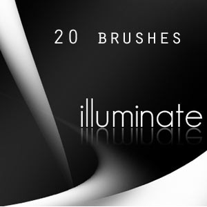 Photoshop brushes abstract, illuminate, twirls