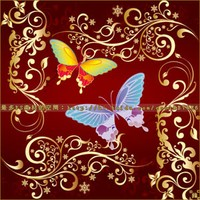 Butterfly Flowers Vector Brushes