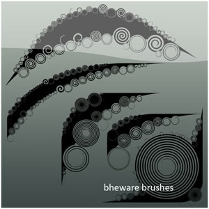 Photoshop brushes shapes, abstract, twirls, collection