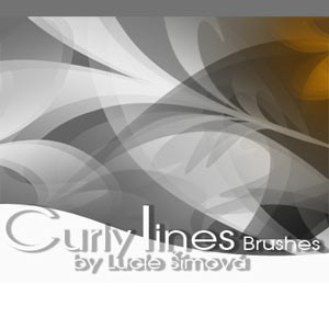 Photoshop brushes lines, abstract, twirls