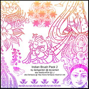 Photoshop brushes indian,decorative,ornament