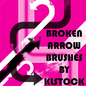 Photoshop brushes arrows, collection