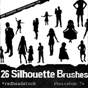 Photoshop brushes people, silhouette