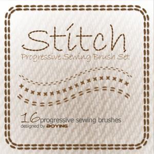 Photoshop brushes stitch