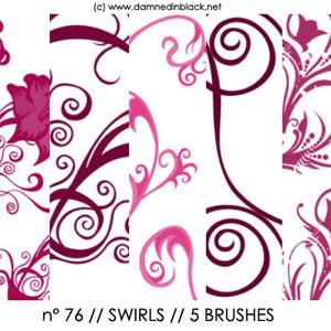 Photoshop brushes swirly, flowers