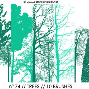 Photoshop brushes trees, silhouettes