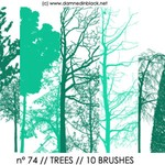 PHOTOSHOP BRUSHES : trees