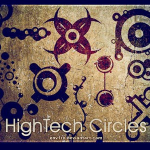 Photoshop brushes tech circles