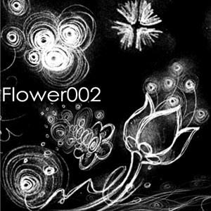 Photoshop brushes doodles, flowers