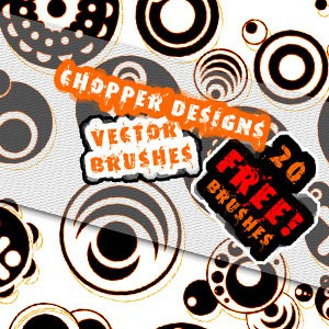 Photoshop brushes shapes, swirls, round, abstract