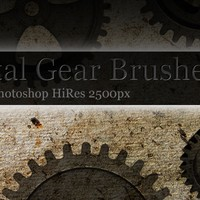 16 Metal Gear Photoshop Brushes HiRes