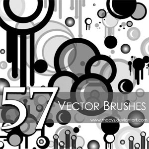 Photoshop brushes abstract, round, shapes, splatters