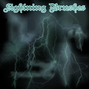 Photoshop brushes lightning