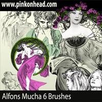 Alfons Mucha Brushes