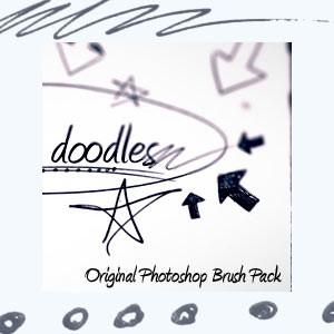 Photoshop brushes doodle, shapes