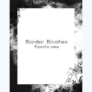 Photoshop brushes grunge, border
