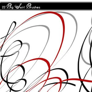 Photoshop brushes swirls,lines