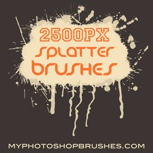 14 Hi Res Splatter Brushes