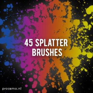Photoshop brushes splash splatter