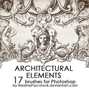 Photoshop brushes architectural, ornaments