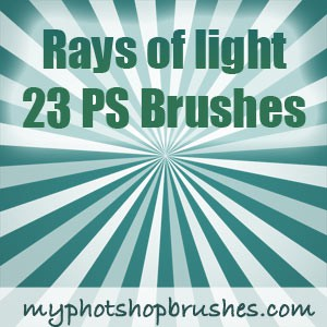 Photoshop brushes rays light