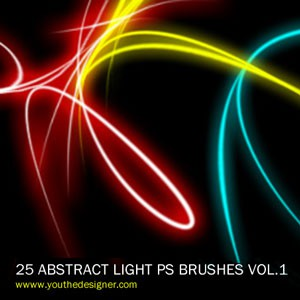 Photoshop brushes abstract light