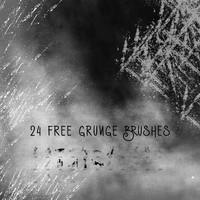 24 Free Grunge Brushes