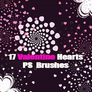 Photoshop brushes hearts, love, valentine